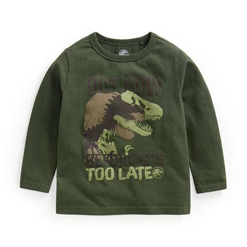 Jurassic World印花長袖T恤-01-童