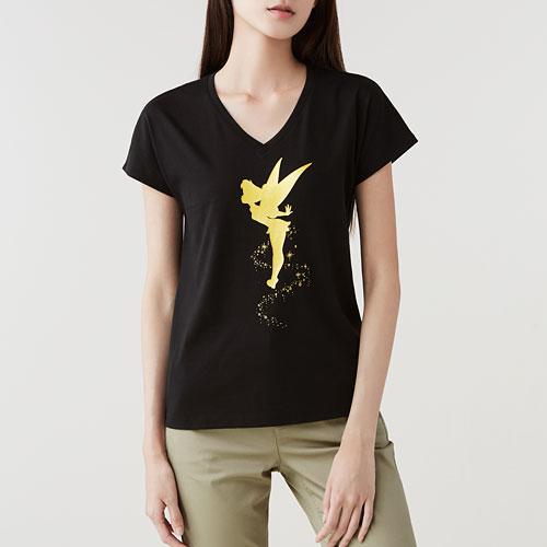 迪士尼系列印花V領T恤-03-女