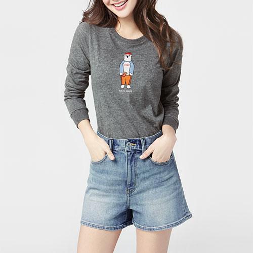 Polar Bear Benjamin印花長袖T恤-02-女