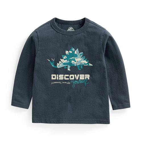 Jurassic World印花長袖T恤-03-童
