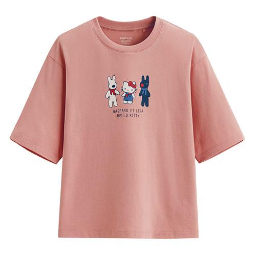 Hello Kitty X麗莎和卡斯柏短版T恤-01-女