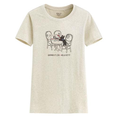 Hello Kitty X麗莎和卡斯柏印花T恤-02-女