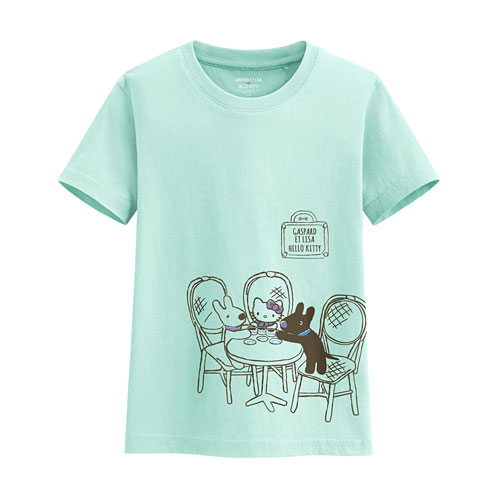 Hello Kitty X麗莎和卡斯柏印花T恤-02-童
