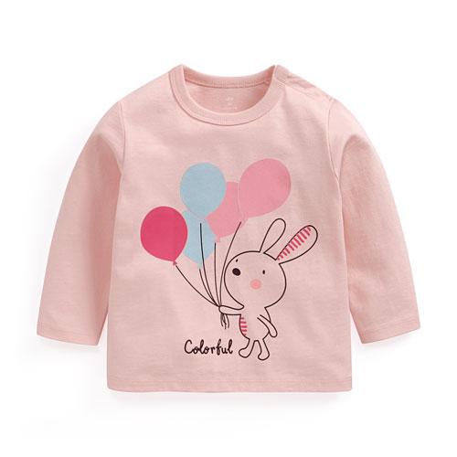 兔子印花長袖T恤-Baby