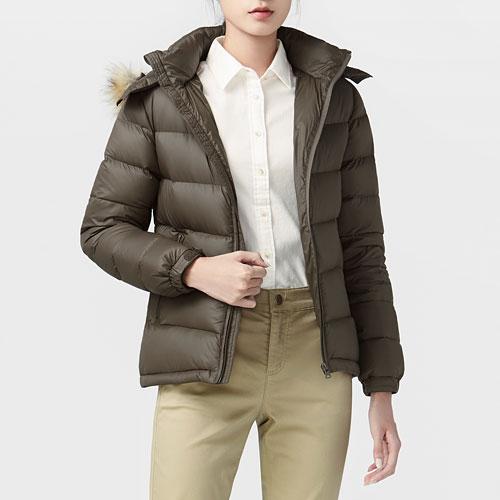 極暖羽絨連帽外套-女