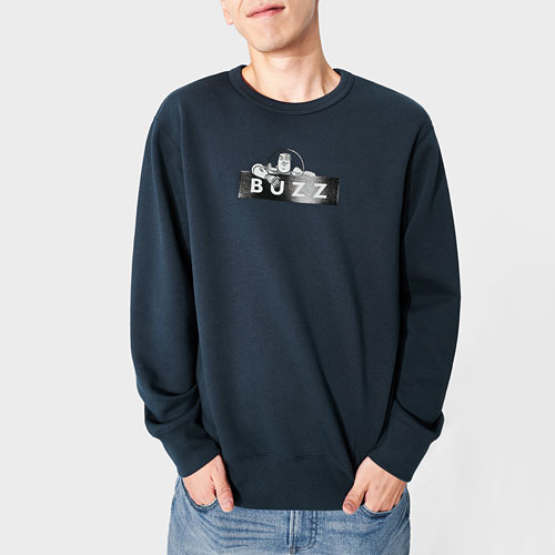 皮克斯系列刷毛圓領衫-男